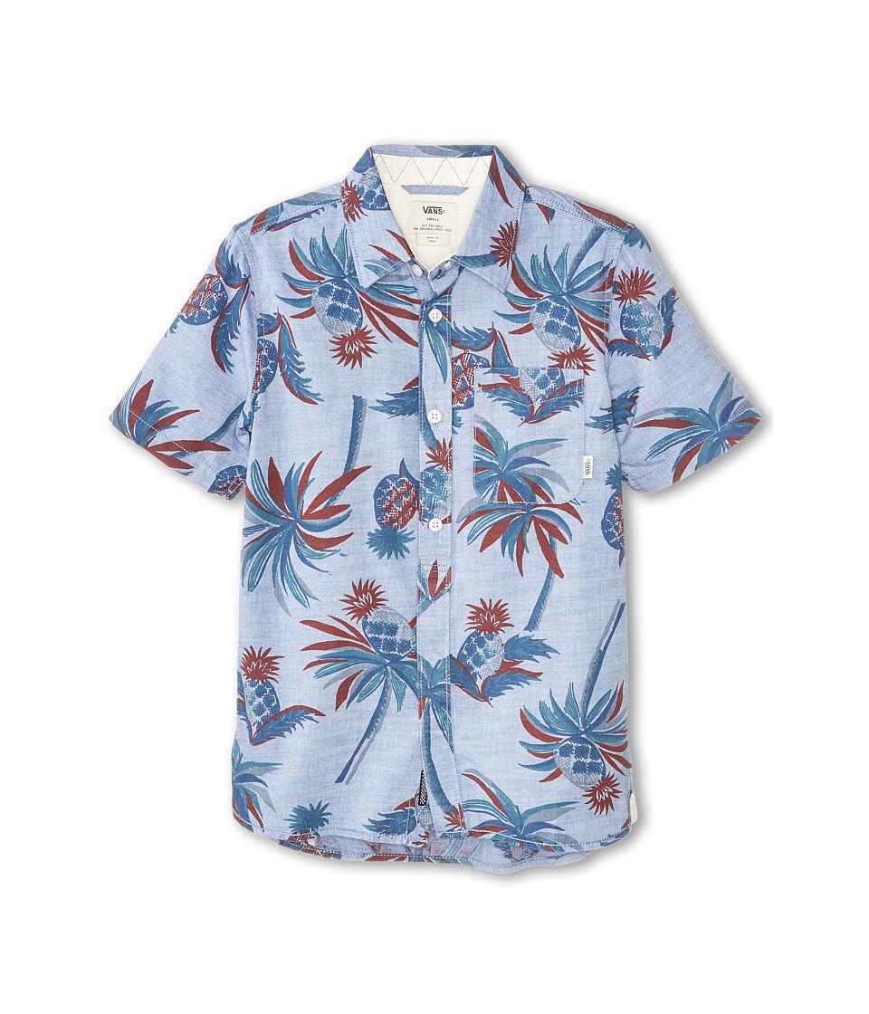 Vans Kids - Ripley Short Sleeve Shirt (Big Kids) (Exblusive Castaway) Boy's Short Sleeve Button Up