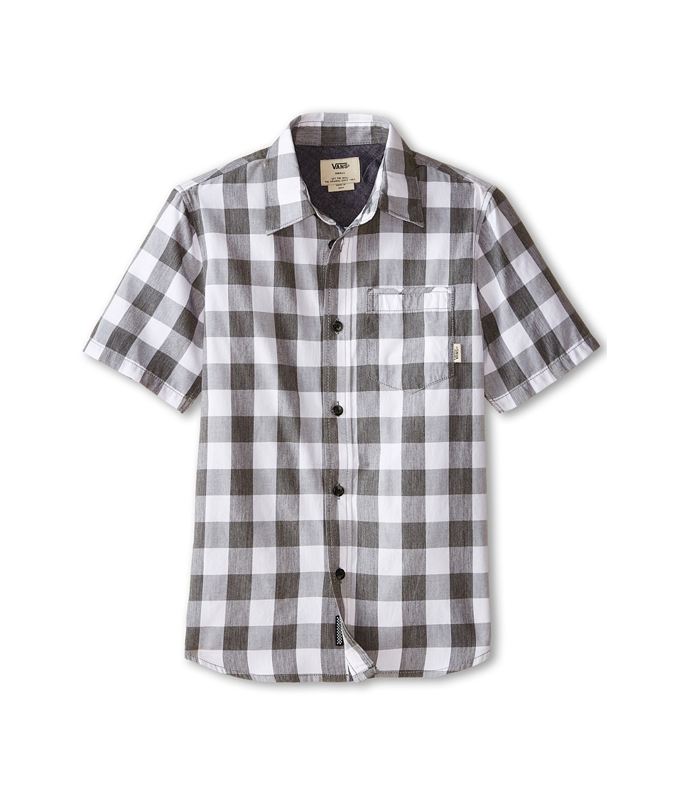 Vans Kids - Milton Short Sleeve Shirt (Big Kids) (Pirate Black/White) Boy's Short Sleeve Button Up