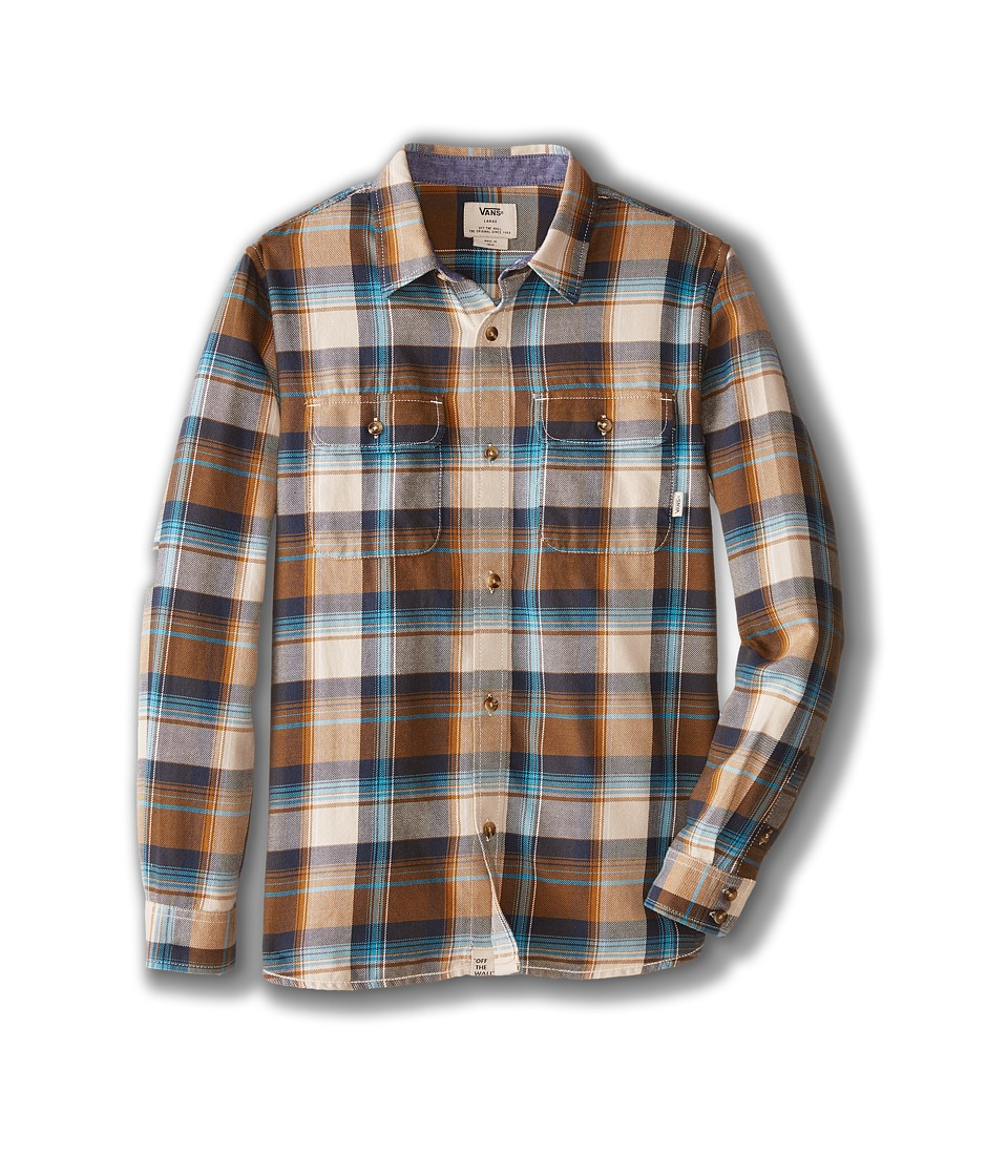 Vans Kids - Elm Long Sleeve Shirt (Big Kids) (Golden Brown) Boy's Long Sleeve Button Up