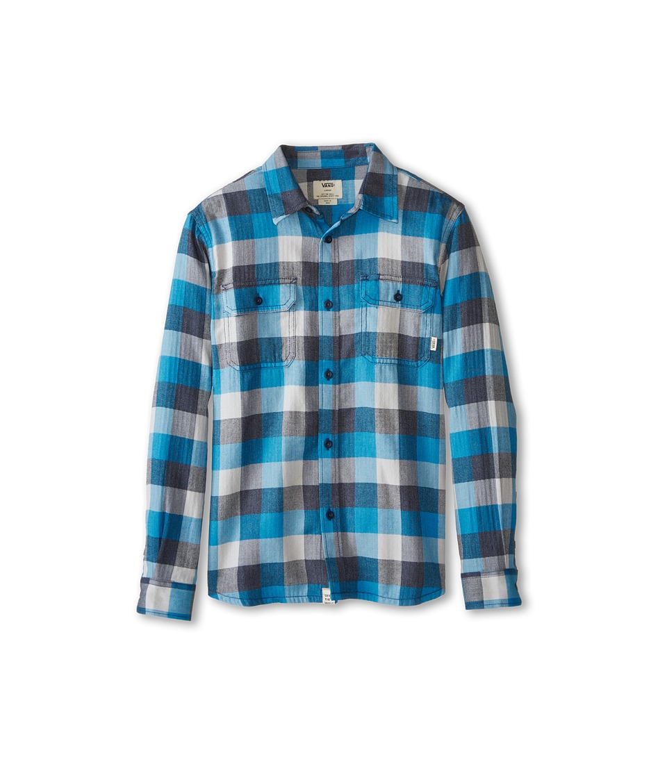 Vans Kids - Alameda Long Sleeve Shirt (Big Kids) (Navy/Maliblue) Boy