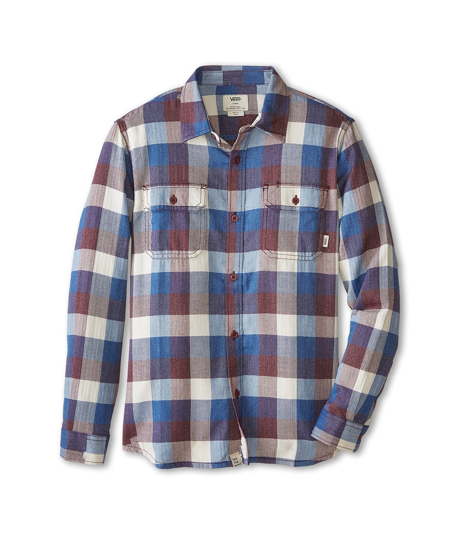 Vans Kids - Alameda Long Sleeve Shirt (Big Kids) (Exblusive/Port) Boy's Long Sleeve Button Up