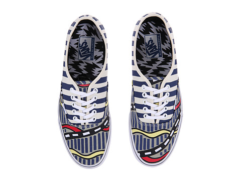 Vans - Authentic ((Eley Kishimoto) Bumpy Road/White) Skate Shoes
