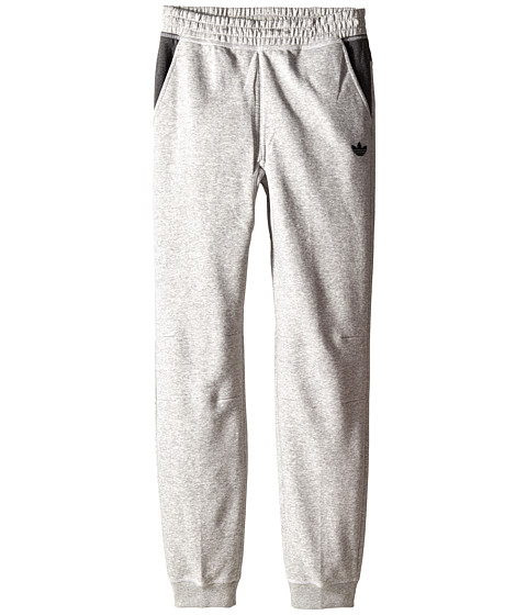 adidas Originals Kids - Sport Luxe Fleece Pants (Little Kids/Big Kids) (Medium Grey Heather/Dark Grey Heather) Kid