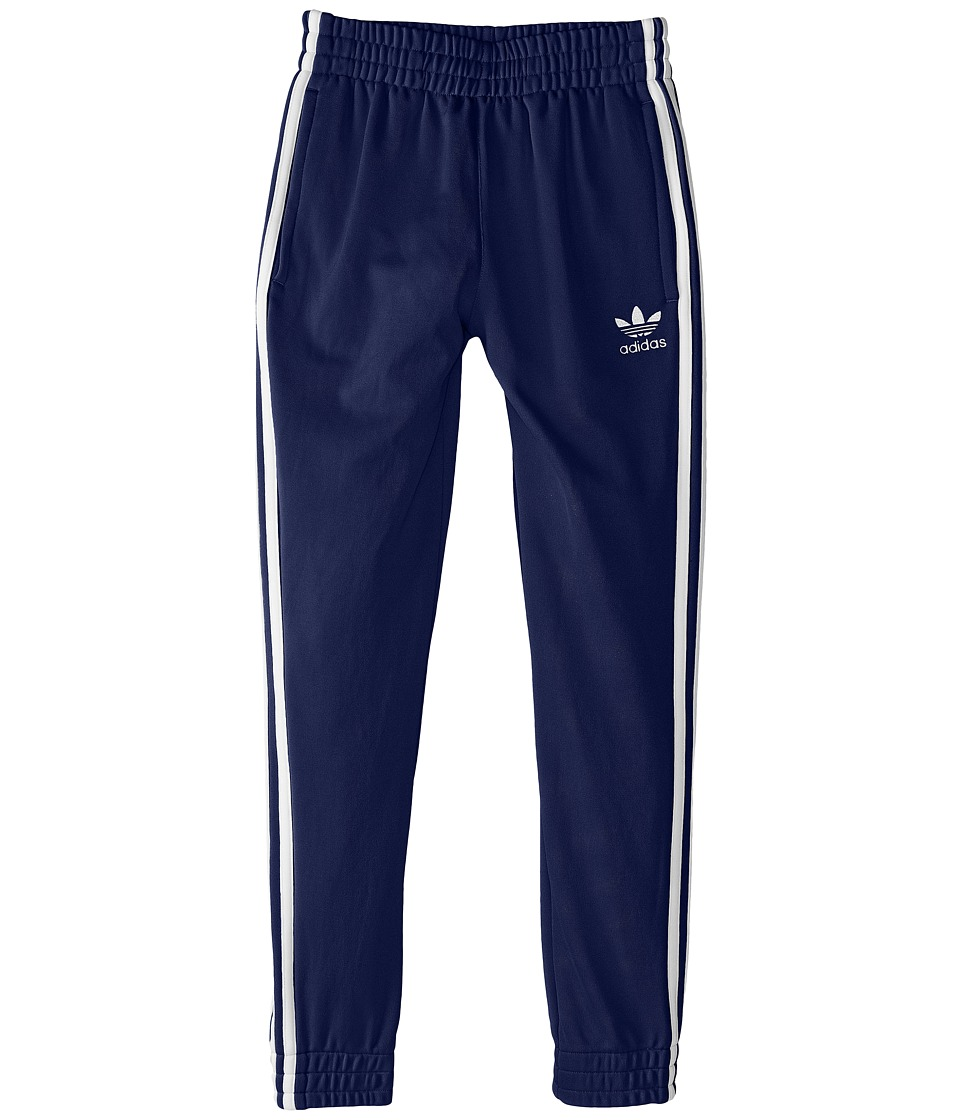 adidas Originals Kids - Superstar Fitted Track Pants (Little Kids/Big Kids) (Midnight/Indigo/White) Kid's Casual Pants
