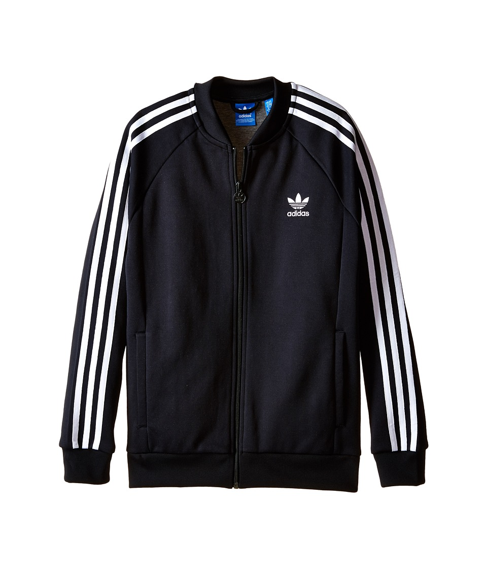 adidas Originals Kids - Superstar Track Top (Little Kids/Big Kids) (Black/White) Kid's Long Sleeve Pullover