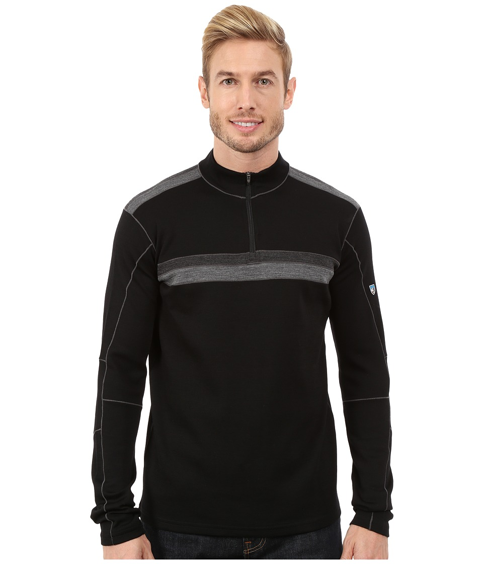 KUHL - Downhill Racr 1/4 Zip (Black/Coal) Men's Long Sleeve Pullover