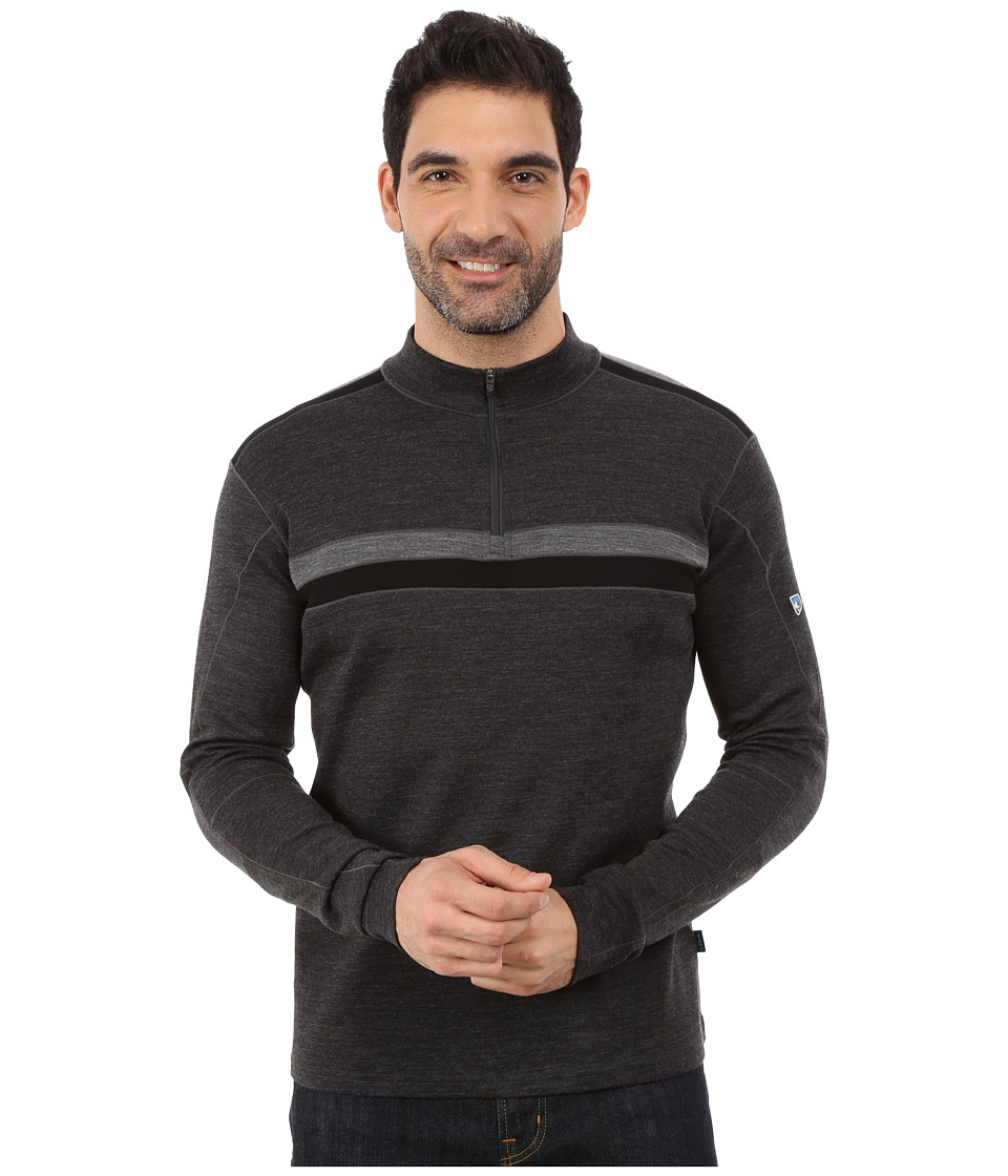 Kuhl - Downhill Racr 1/4 Zip (Smoke) Men's Long Sleeve Pullover