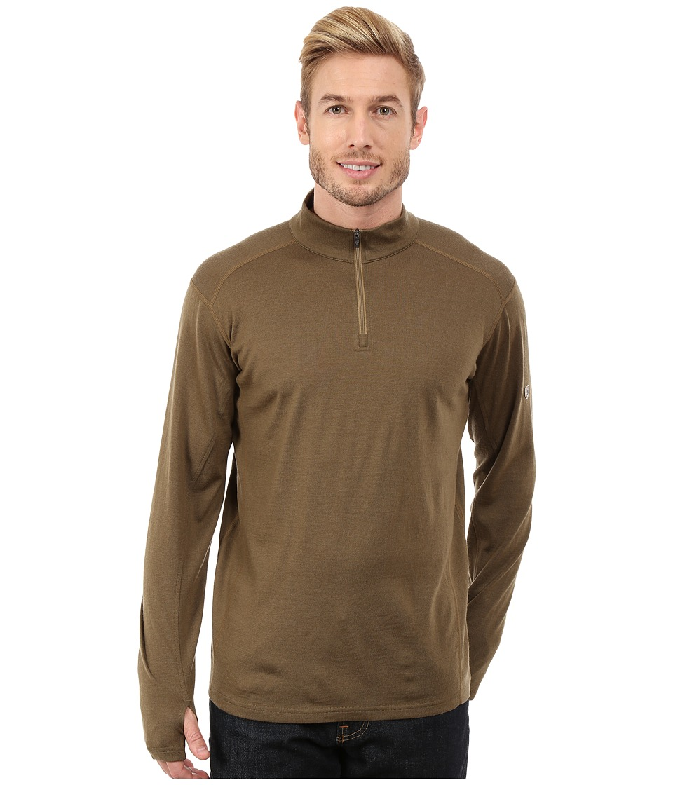 Kuhl - Skar 1/4 (Rustic Brown) Men's Long Sleeve Pullover