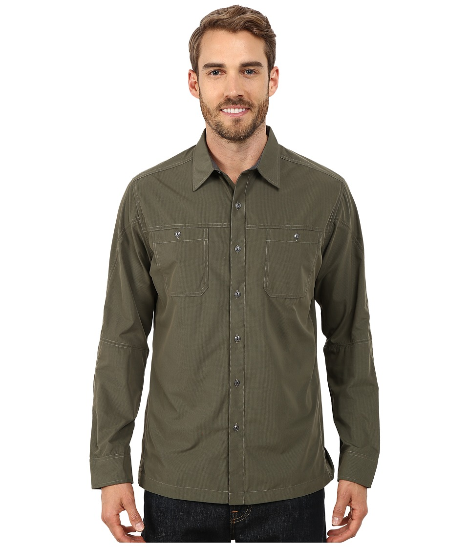 Kuhl - Bakbone Long Sleeve Shirt (Forest Green) Men