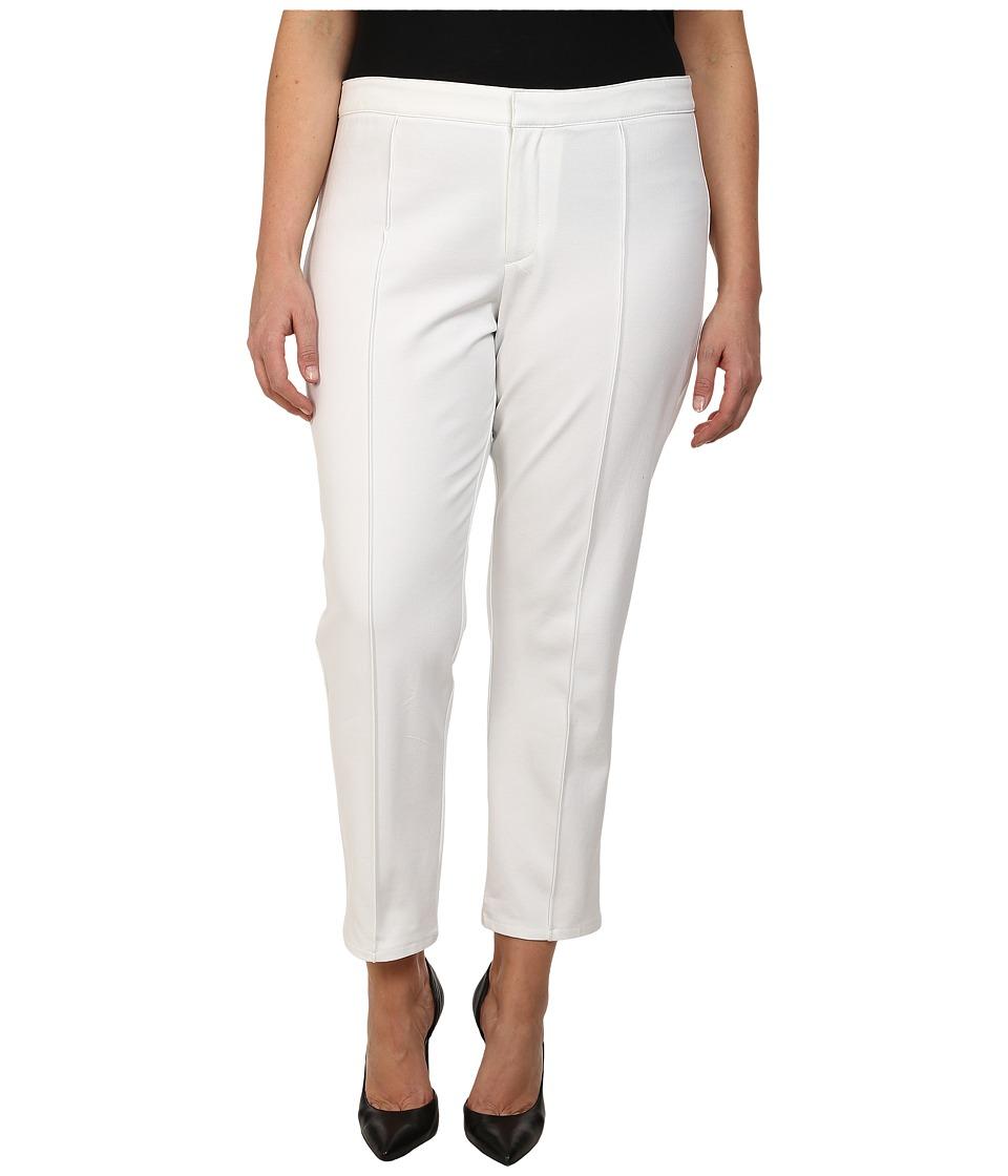 DKNYC - Plus Size Bi-Stretch Skinny Ankle Pintuck Pants (White) Women's Casual Pants