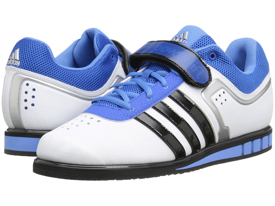 adidas - Powerlift 2 (White/Black/Blue) Men's Shoes