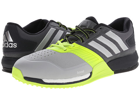 adidas - Crazytrain Boost (Grey/Silver/Yellow) Men