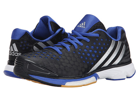 adidas - Volley Response Boost (Black/Silver Metallic/Bold Blue) Women's Volleyball Shoes