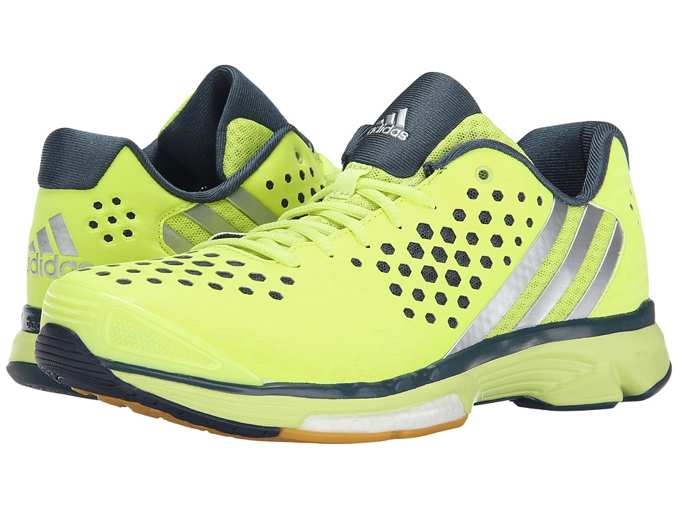adidas - Volley Response Boost (Frozen Yellow/Silver Metallic/Sollegiatge Navy) Women's Volleyball Shoes