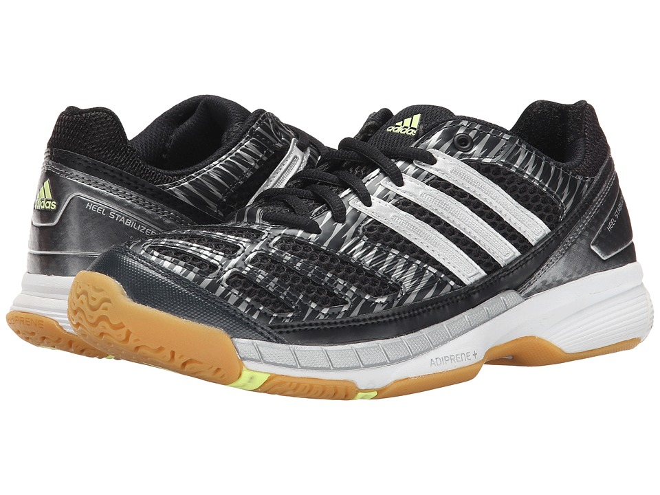 adidas - Volley Assault (Black/Silver Metallic/Frozen Yellow) Women's Volleyball Shoes