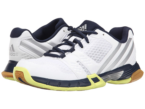 adidas - Volley Team 3 (White/Silver Metallic/Collegiate Navy) Women's Volleyball Shoes