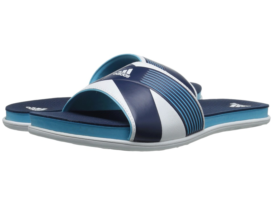 adidas - Supercloud Plus Slide (Bright Cyan/White/Collegiate Navy) Women