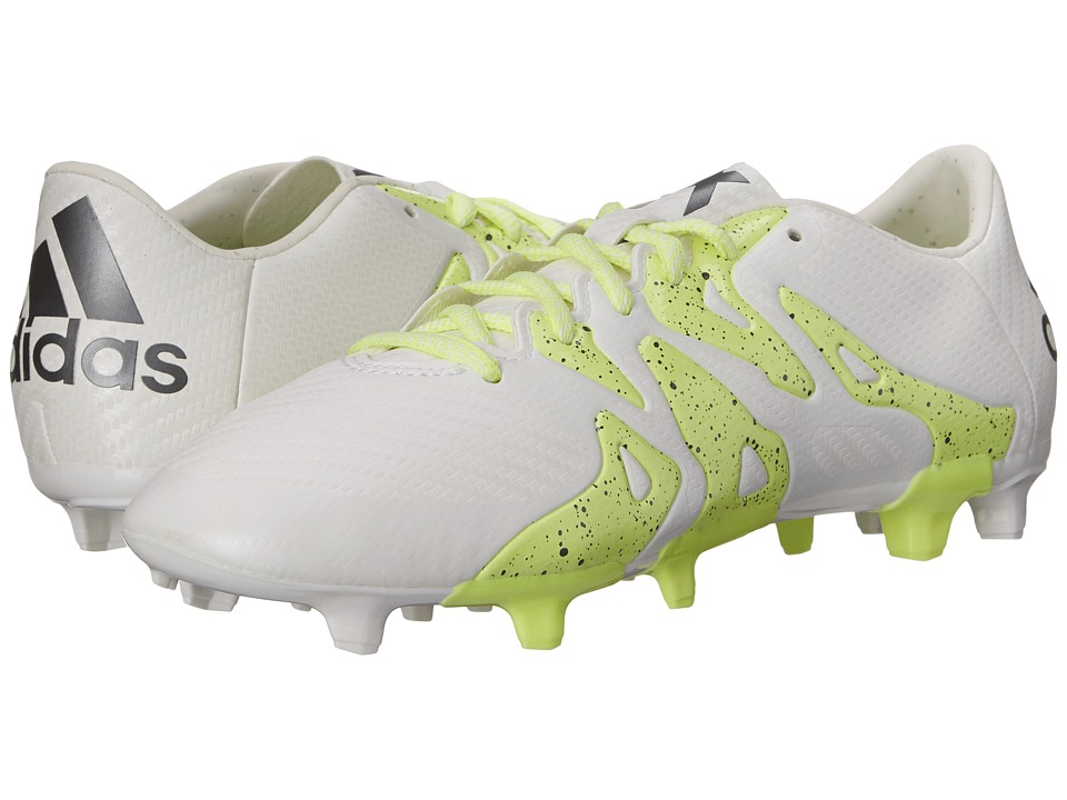 adidas - X Low FG/AG (White/Frozen Yellow/Night Metallic) Women's Cleated Shoes
