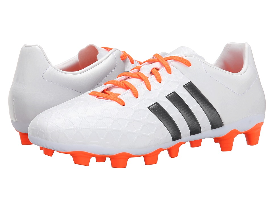 adidas - Ace Entry FxG (White/Iron Metallic/Solar Orange) Women's Cleated Shoes