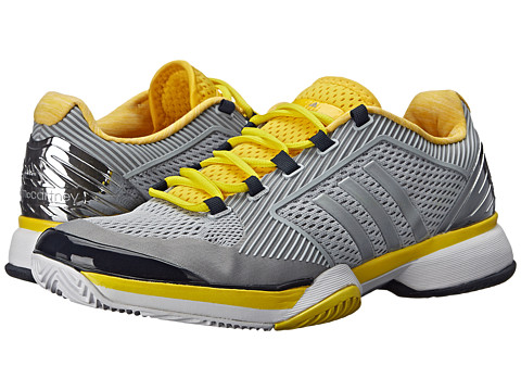adidas - Stella McCartney Barricade 2015 (Ice Grey/Super Yellow/Legend Blue) Women's Tennis Shoes