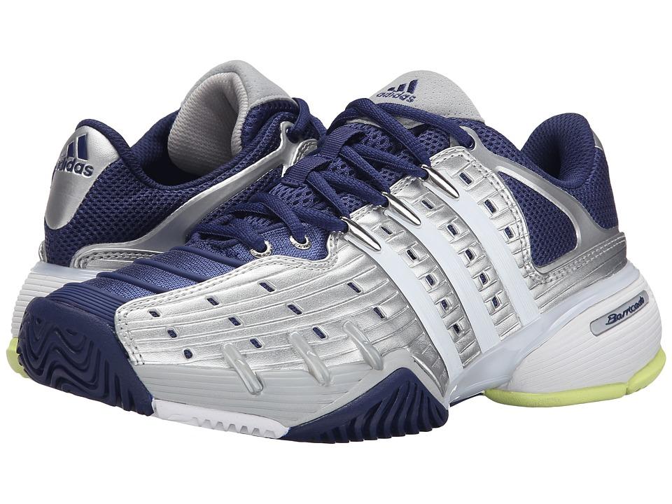 adidas - Barricade V Classic (Silver Metallic/White/Midnight Indigo) Women's Shoes
