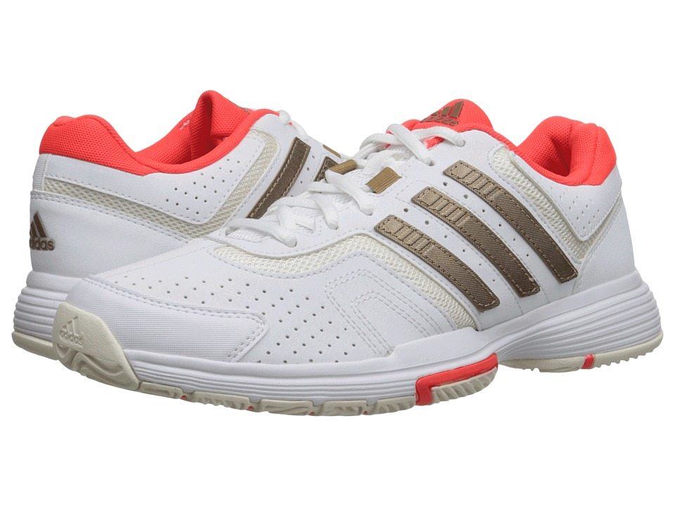 adidas - Barricade Court (White/Copper Metallic/Solar Red) Women's Tennis Shoes