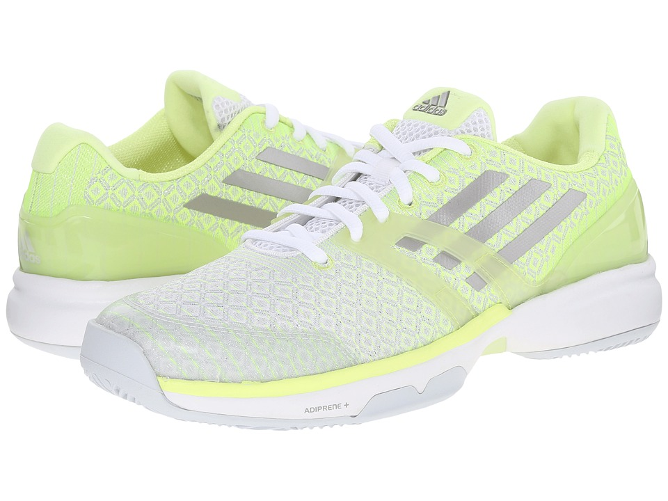adidas Adizero Ubersonic (Frozen Yellow/White/Silver Metallic) Women's  Tennis Shoes