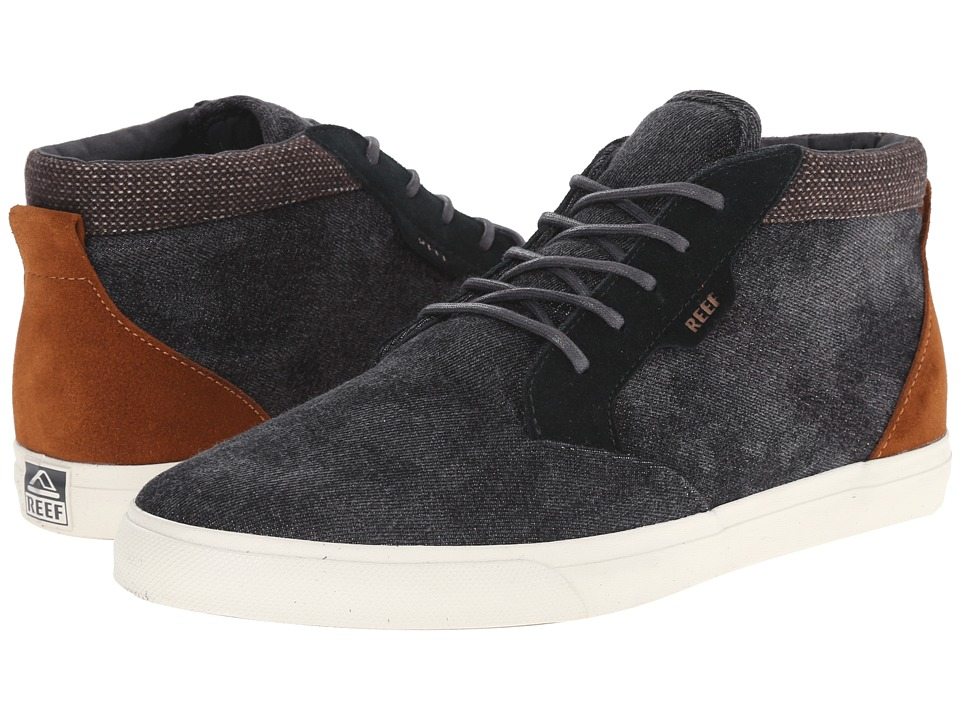 Reef - Outhaul TX (Black Denim) Men's Lace up casual Shoes