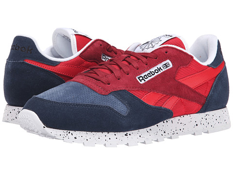 Reebok - Classic Leather SM (Faux Indigo/Red Rush/Triathlon Red/White/Black) Men's Shoes