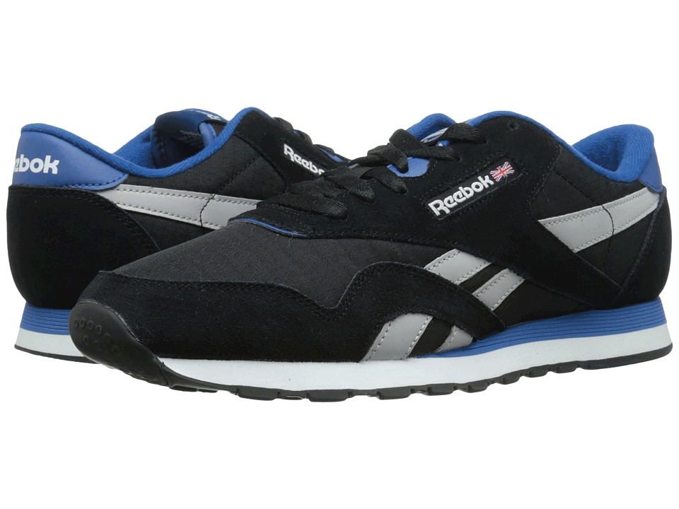 Reebok Lifestyle - Classic Nylon RS (Black/Steel/Handy Blue/White) Men's Shoes