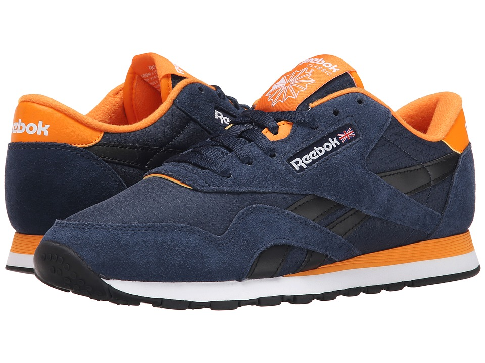 Reebok Lifestyle - Classic Nylon RS (Faux Indigo/Black/Bright Orange/White) Men's Shoes