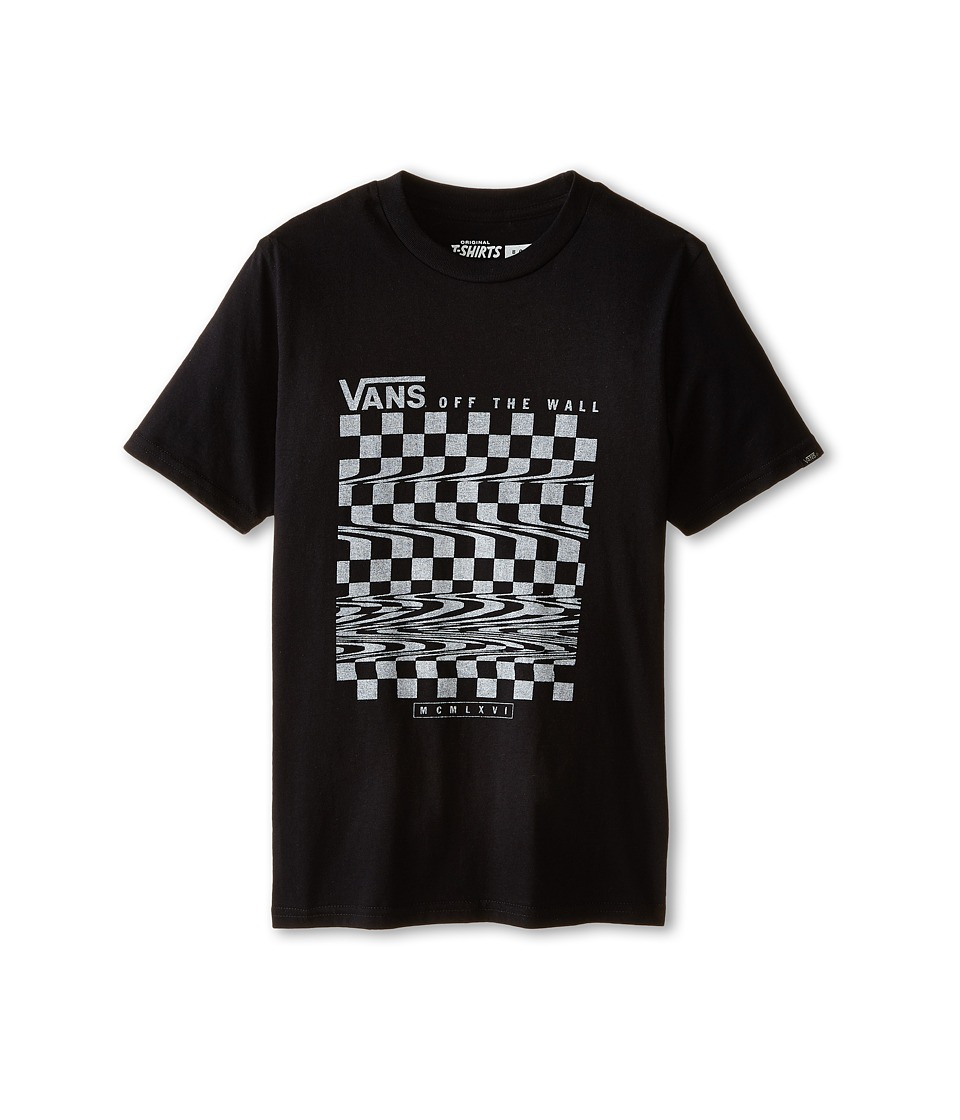 Vans Kids - Glitch Check T-Shirt (Big Kids) (Black) Boy