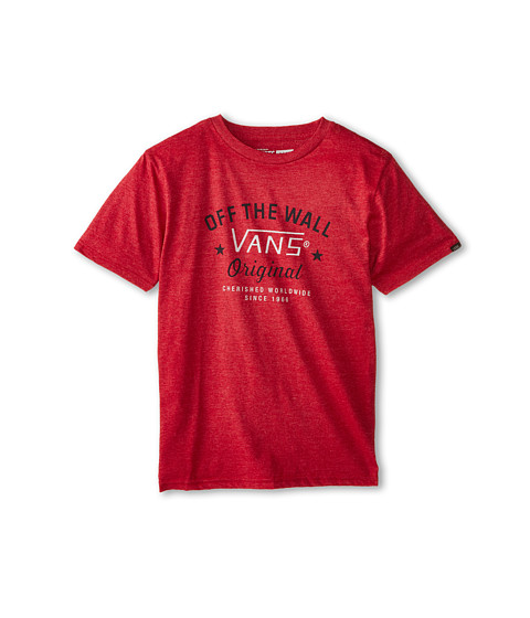 Vans Kids - Preferred T-Shirt (Big Kids) (Heather Red) Boy's T Shirt