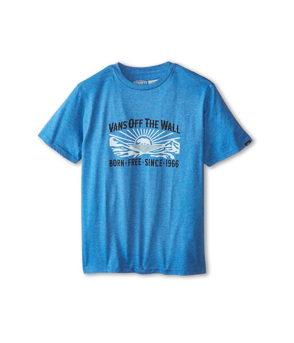 Vans Kids - Born Free T-Shirt (Big Kids) (Heather Royal) Boy's T Shirt