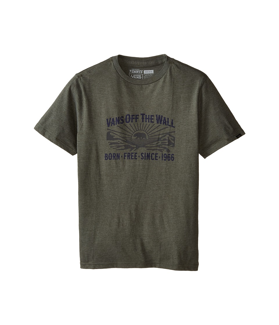 Vans Kids - Born Free T-Shirt (Big Kids) (Heather Olive) Boy