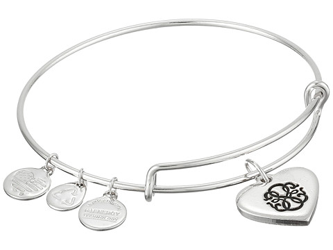 Alex and Ani - Path of Life Heart Bangle (Silver) Bracelet