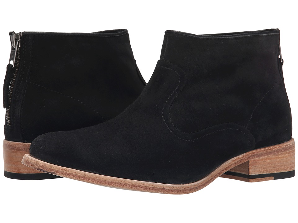 Johnston & Murphy - Susi Bootie (Black Kid Suede) Women's Pull-on Boots
