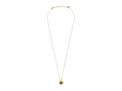 Alex and Ani - Lotus Peace Petal Heart Expandable Necklace (Gold) Necklace