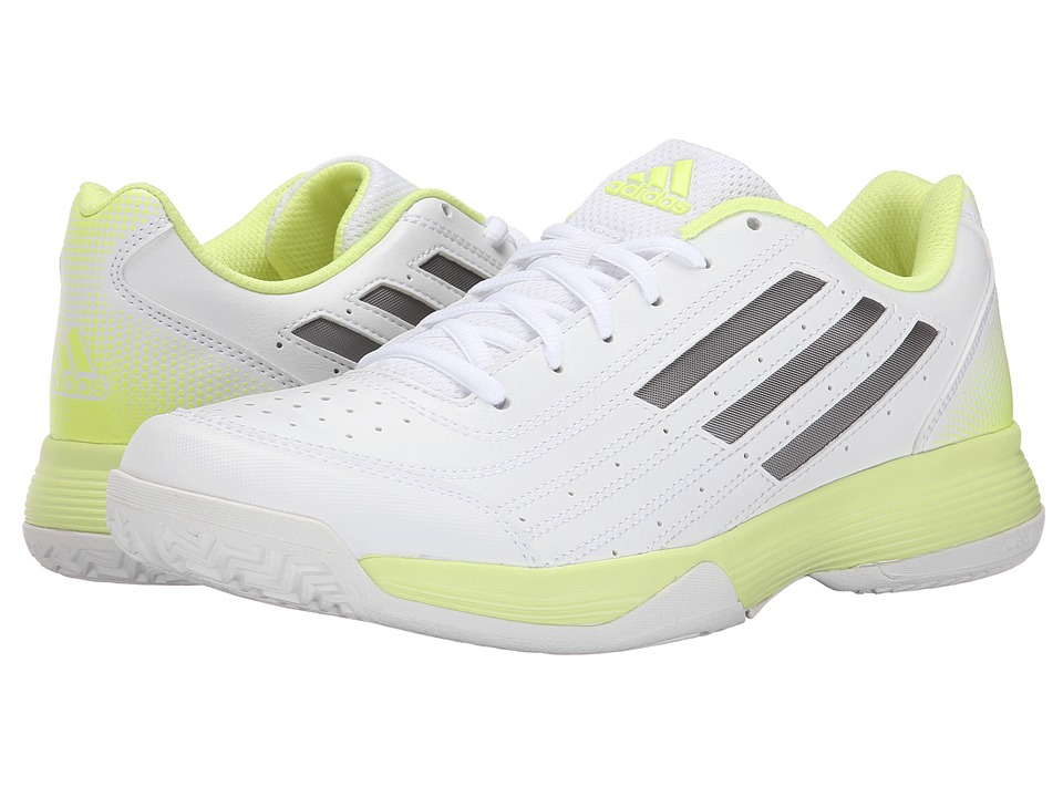 adidas - Sonic Attack (White/Tech Silver Metallic/Frozen Yellow) Women's Tennis Shoes