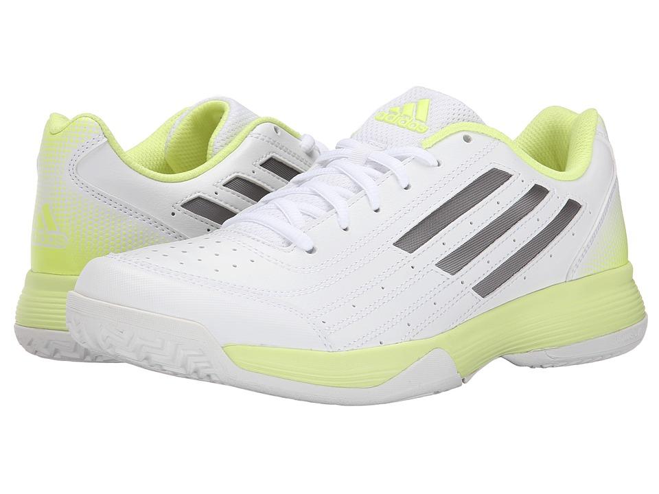 adidas - Sonic Attack (White/Tech Silver Metallic/Frozen Yellow) Women's Tennis Shoes