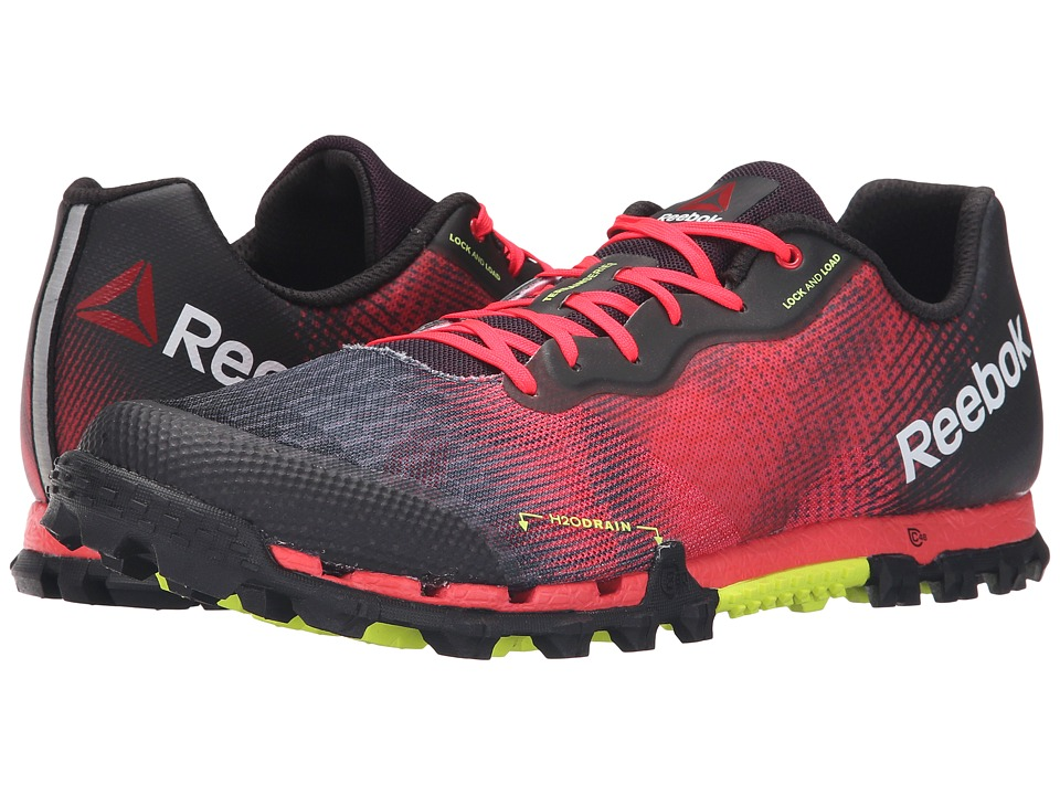 Reebok - All Terrain Super 2.0 (Neon Cherry/Black/Solar Yellow) Men's Running Shoes
