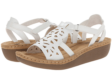 Cliffs by White Mountain - Chambray (White) Women's Wedge Shoes