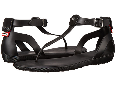 Hunter - Original T Bar Sandal (Black) Women's Sandals