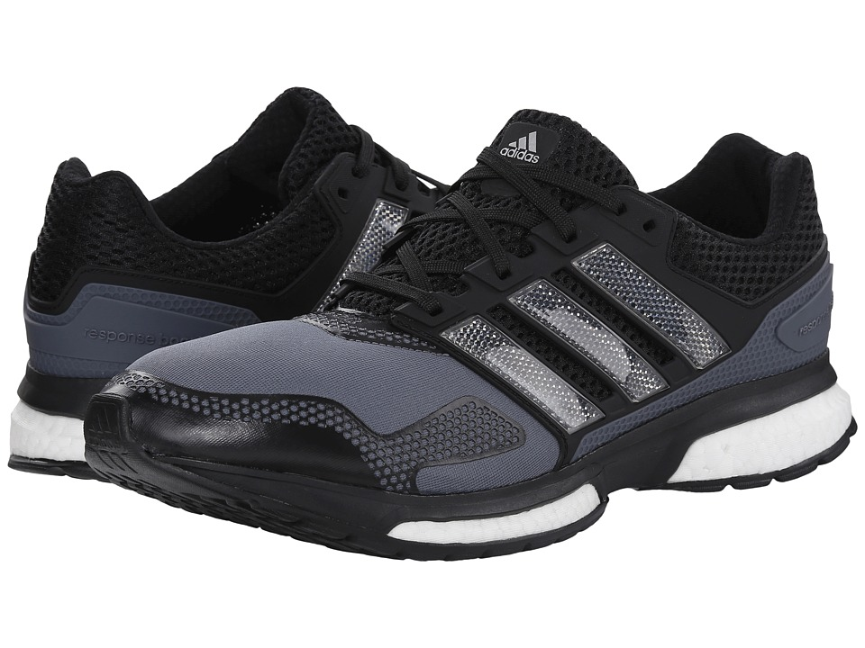 adidas Running - Response Boost 2 Techfit (Onix/White/Silver Metallic) Men's Running Shoes