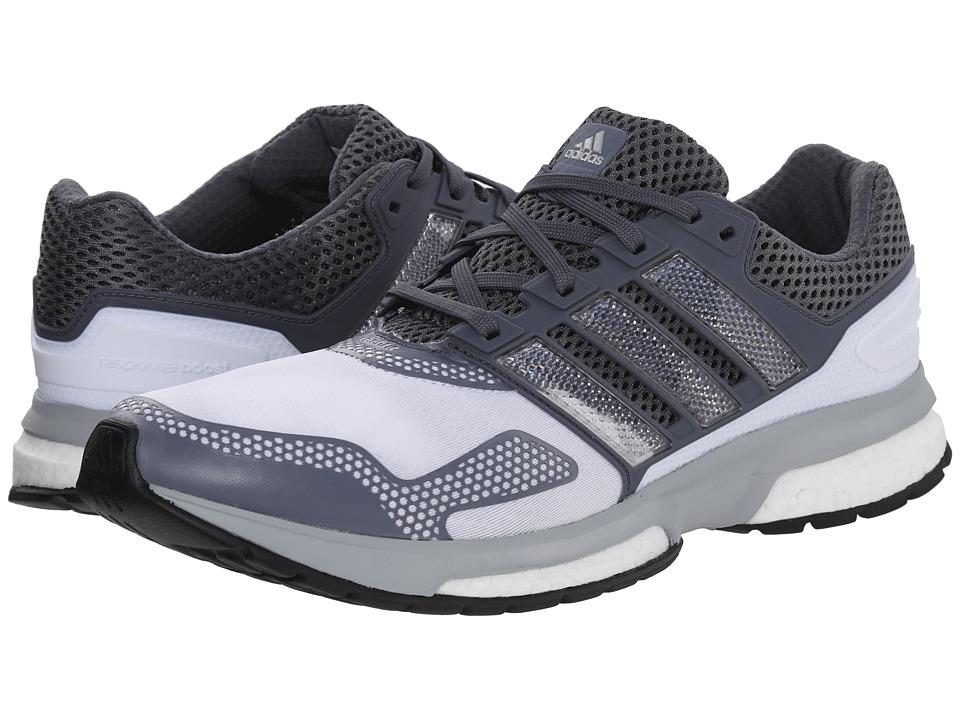 adidas - Response Boost 2 Techfit (White/Silver Metallic/Onix) Men's Running Shoes