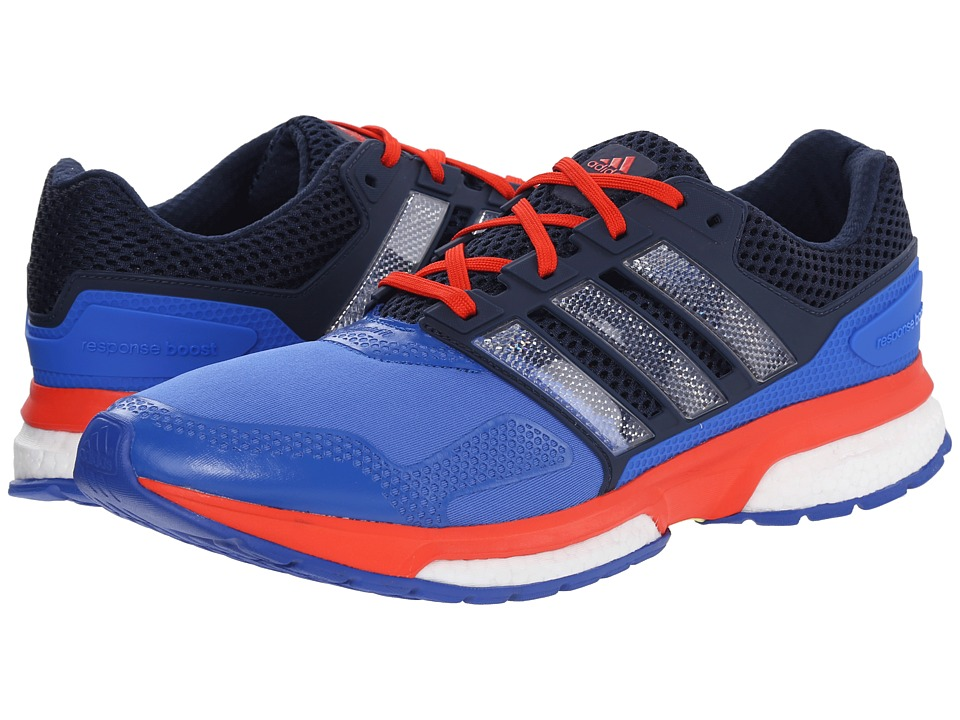 adidas Running - Response Boost 2 Techfit (Blue/White/Bold Orange) Men's Running Shoes