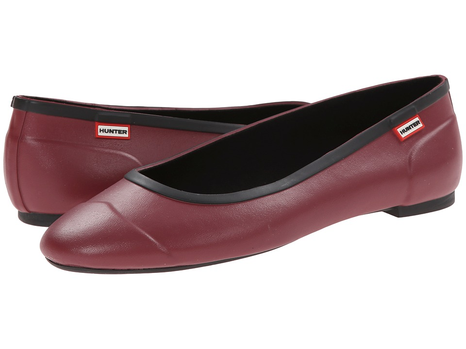 Hunter - Original Tour Ballerina (Damson) Women's Flat Shoes