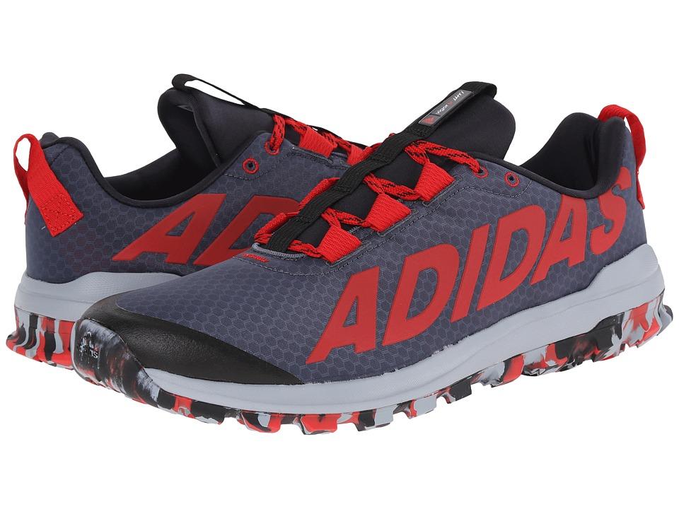 adidas Running - Vigor 6 TR (Black/Silver Metallic/Solar Red) Men's Running Shoes