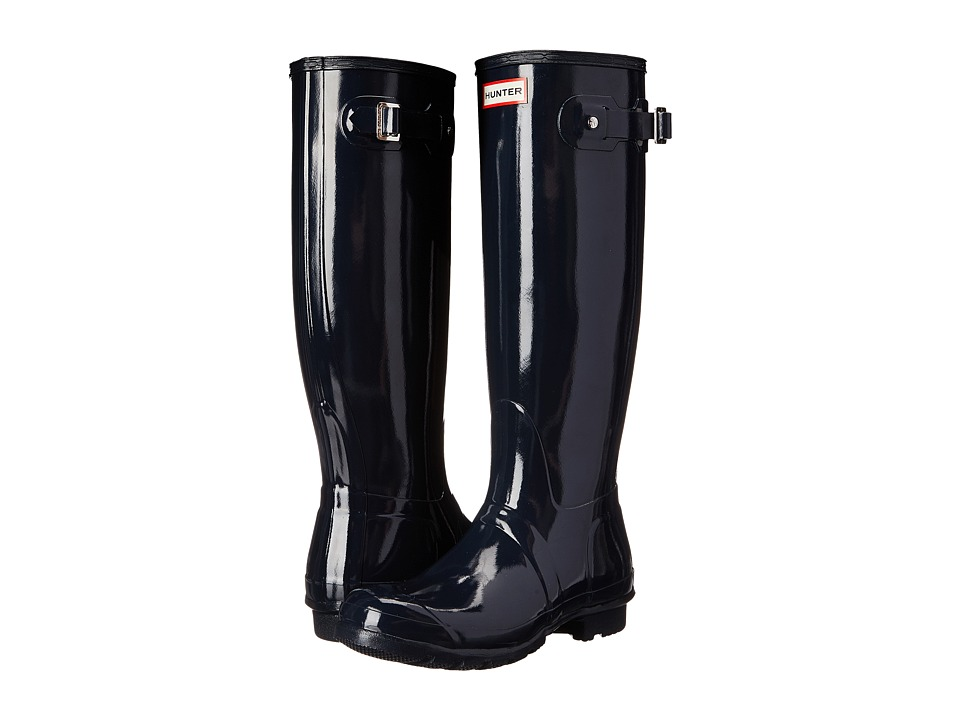 Hunter - Original Gloss (Navy Gloss) Women's Rain Boots