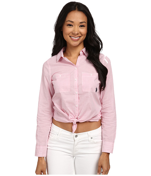 U.S. POLO ASSN. - 2 Stripe Shirt (Azalea Pink) Women
